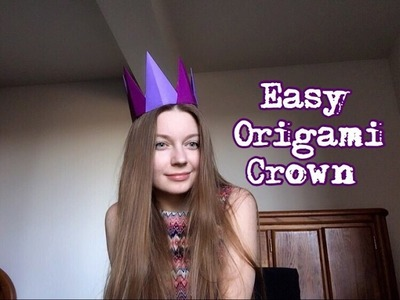 How to create origami crown. Couronne d'Origami. 종이 접기 크라운. Corona de origami. Оригами корона