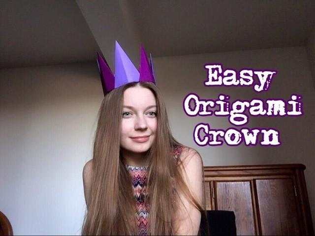 How to create origami crown. Couronne d'Origami. 종이 접기 크라운. Corona de origami. Оригами корона