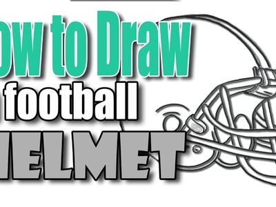 ???? How to Draw Football Helmet ????