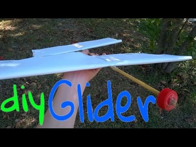 How to make a Large Glider with Straws and Paper.(diy Toy Airplane)