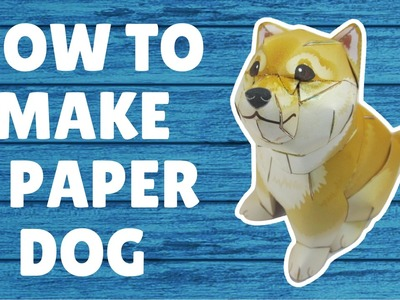 How To Make A Paper Dog|  ART from Paper | PAPERCRAFT | MAKE out of Paper