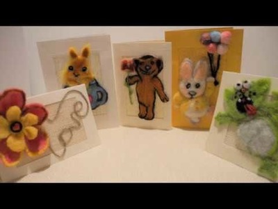 How to make needle felted card. Tutorial
