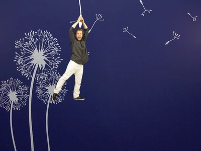 How to Paint with a Dandelion Stencil