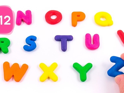 Learn Alpahbet with Color Modeling Polymer Clay Nursery Rhymes (N to Z) #12 - By MagicPang