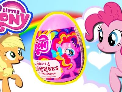 MY LITTLE PONY - Surprise Eggs - Fluttershy, Pinkie Pie, Applejack, Rainbow Dash,  Twilight Sparkle.