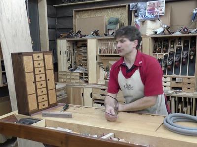 Rob Cosman's Birdseye Maple.Walnut wood hinged Jewelry Chest