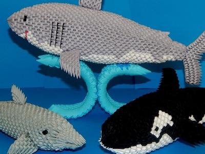 3d origami Shark tutorial part3