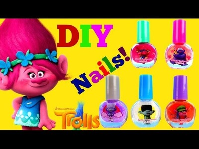 Best DIY Nails with Poppy with Dreamworks TROLLS!! Plus Disney Princess Sleepover