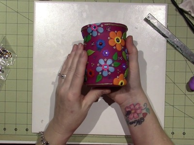 Clay pencil holder tutorial