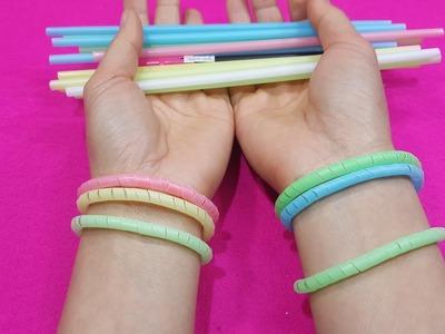 Diy bracelet ! made bracelets with straws