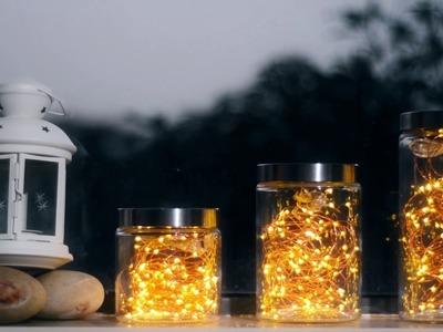 DIY & Creative Window Decorative Lighting Bottles with Led Copper String Lights