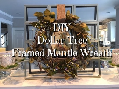 DIY Dollar Tree Spring Easter Mantle Picture Window Wreath Decor