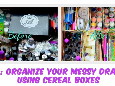 DIY: Drawer Organizer Using Cereal Boxes