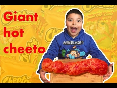 Diy giant Hot Cheetos | how to make huge edible hot Cheetos