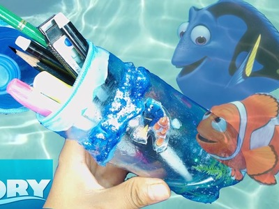 DIY How To Make Liquid Bottle DORY Pencil Case for Kids.
