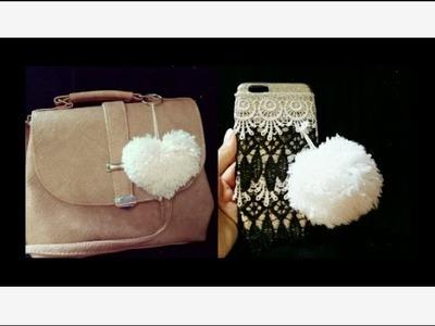 DIY| how to make pompom & heart ???? keychain