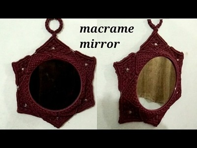 DIY Macrame mirror with easy steps