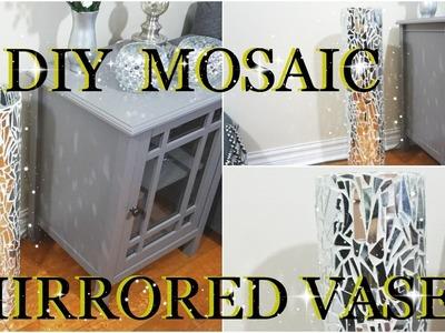 DIY MOSAIC MIRRORED GLASS VASE  HOME DECOR | PETALISBLESS????