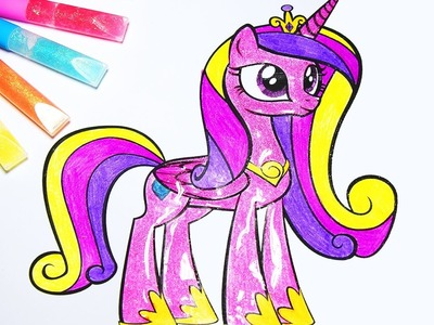 DIY My Little Pony Coloring Book : Arts for kids : How to color Princess Cadance Equestria Girl!