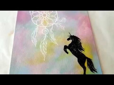 DIY Pastel Unicorn Canvas Art ♥