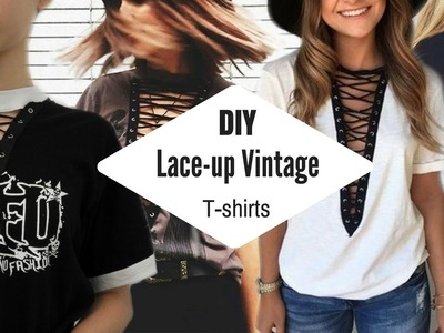 DIY VINTAGE LACE-UP GRAPHIC T-SHIRTS | BeyondStyle