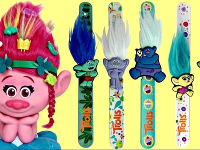 Dreamworks TROLLS POPPY Style Studio Hair Salon DIY, Branch Guy Diamond Slap Band Bracelets. TUYC