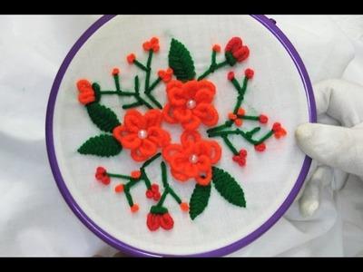 Hand Embroidery - Bullion Knot Stitch ( Brazilian embroidery)