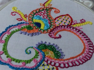 Hand embroidery designs. Basic stitches design for beginners. embroidery stitches tutorial.