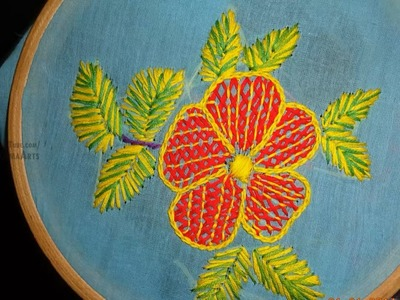 Hand Embroidery Flower Design by Amma Arts