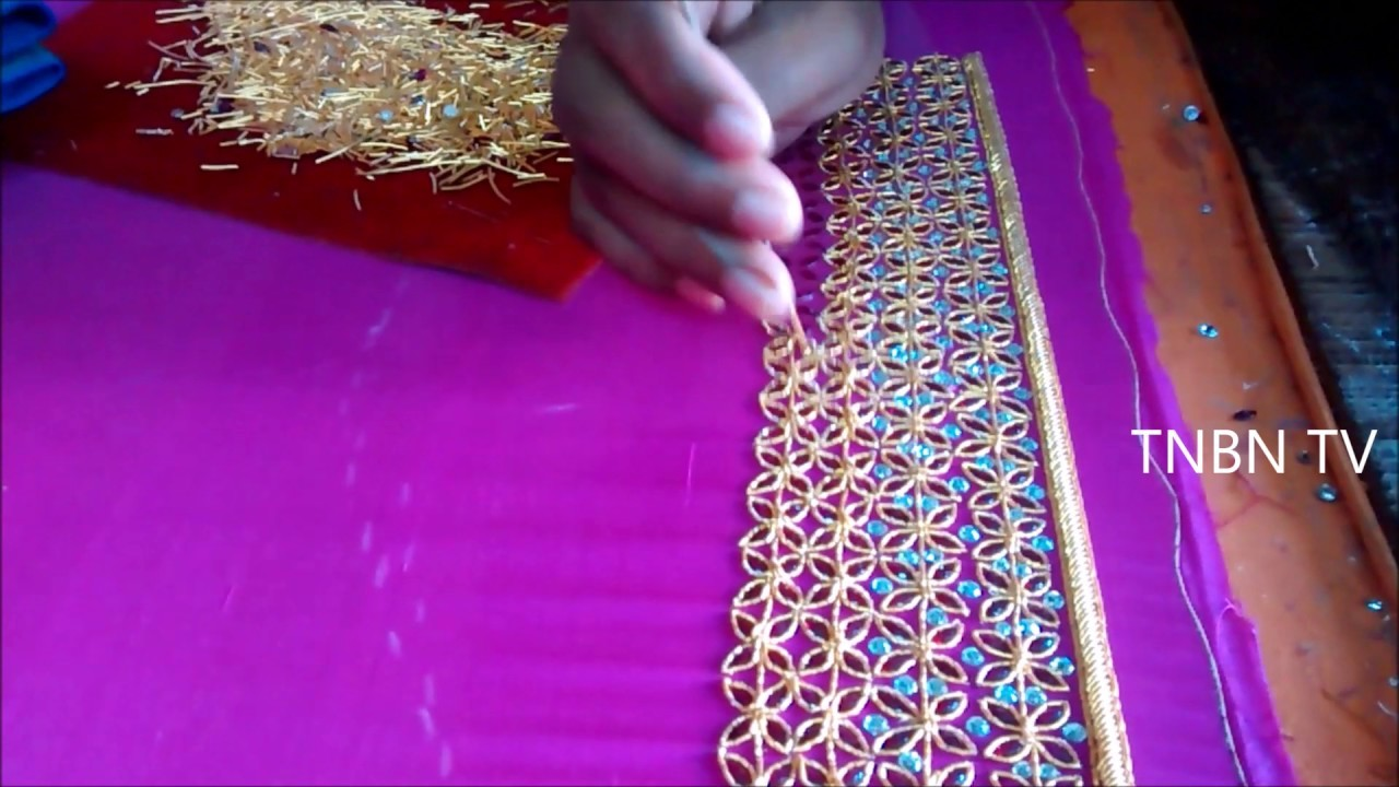 Hand embroidery tutorial for beginners zardozi