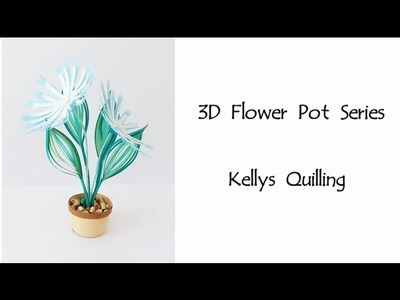 HD - 3D Quilling Flower Pot Series Quilling Flower Pot 20