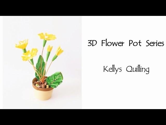 HD - 3D Quilling Flower Pot Series   Quilling Flower Pot 19