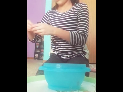 How to make slime with glue,tide, lotion