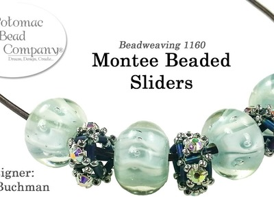 Montee Beaded Sliders (Beaded bead tutorial for necklaces.bracelets)