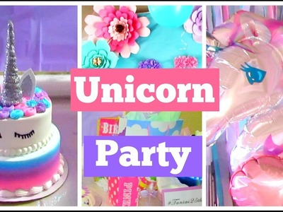 My Unicorn Birthday| DIY Cake+ Decorations!
