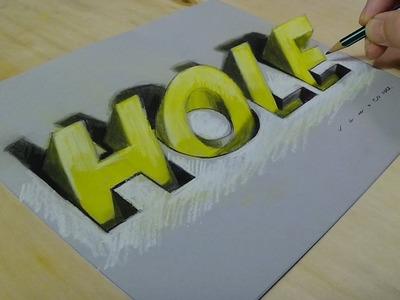 New Viewpoint - 3D Drawing Letters - How to Draw Hole Letters