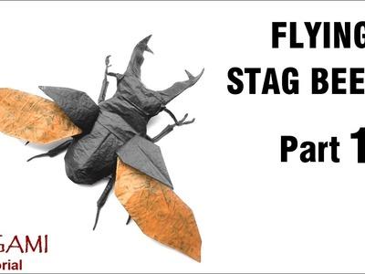 Origami Flying Stag Beetle tutorial (Shuki Kato) Part 1 折り紙 ヨーロッパミヤマクワガタ оригами жук-олень