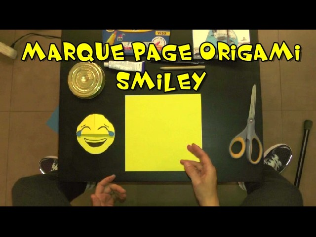 origami marque page smiley facile my crafts and diy projects. Black Bedroom Furniture Sets. Home Design Ideas