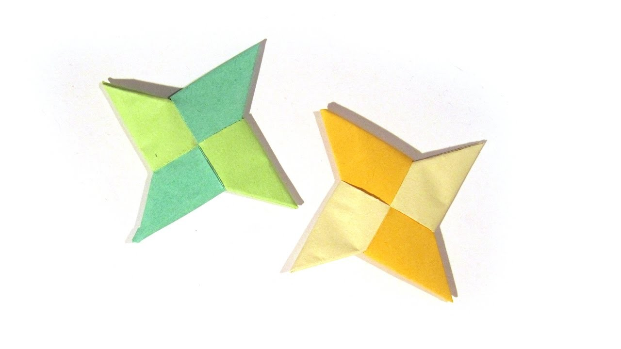origami ninja star shuriken how to make an easy ninja