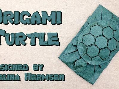 "Origami Tutorial: Tessellated Turtle ""Chelone"" (Melina ""Yureiko"" Hermsen)"
