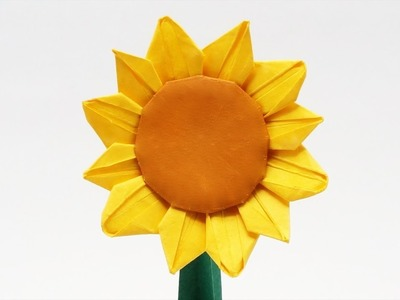 PREVIEW - ORIGAMI SUNFLOWER ???? (Jo Nakashima) - Time-lapse