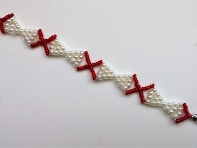 Simple beaded bracelet tutorial .Bow bracelet making