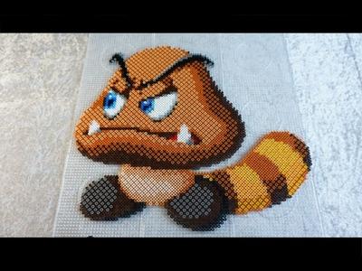 Super Mario: BIG TAIL GOOMBA - Hama Beads. Perler Beads