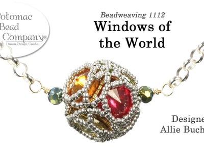 Windows of the World  - Pendant, Beaded Bead, Necklace, Earrings, Bracelet Tutorial