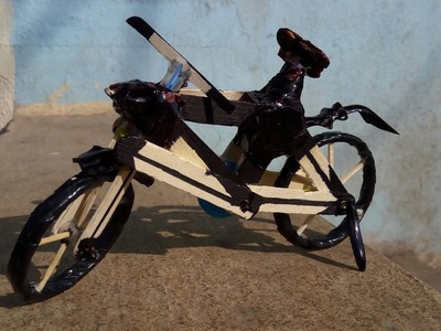 Wow! Amazing Bicycle By Crafty Mihir Built Using Mini Gear Super Diy Bicycle