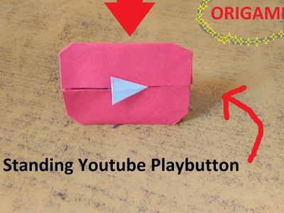 Youtube Play Button (Standing show piece) Origami.Paperfolding