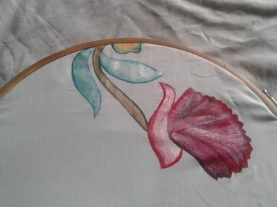 20-Easy painting,fabric painting learn how to paint curtain or bedsheet(hindi.urdu)