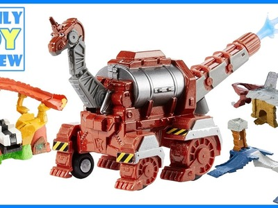 Dinotrux Toys - DiY Hydrodon Rescue Launch Out Playset - RAre Dinotrux Firesaurus Hydrodon Playset