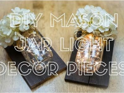 DIY Mason Jar Light Decor Pieces