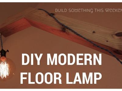 DIY MODERN FLOOR LAMP - GENIUS HOME DESIGN - HOW TO